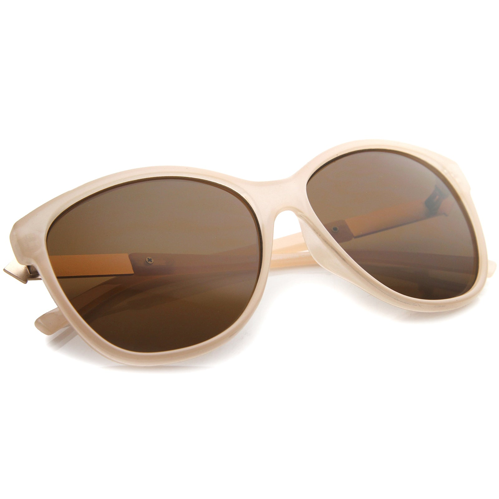 Women's Glam Fashion Metal Temple Oversize Cat Eye Sunglasses 59mm - sunglass.la - 16