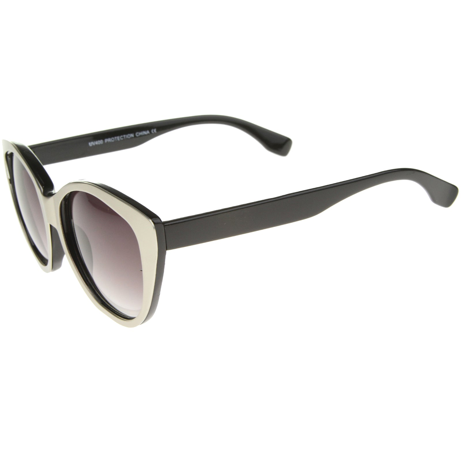 Women's High Fashion Two-Toned Tinted Lens Oversize Cat Eye Sunglasses 55mm - sunglass.la - 7