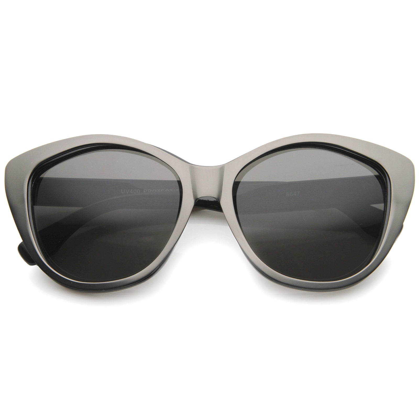 Women's High Fashion Two-Toned Tinted Lens Oversize Cat Eye Sunglasses 55mm - sunglass.la - 9