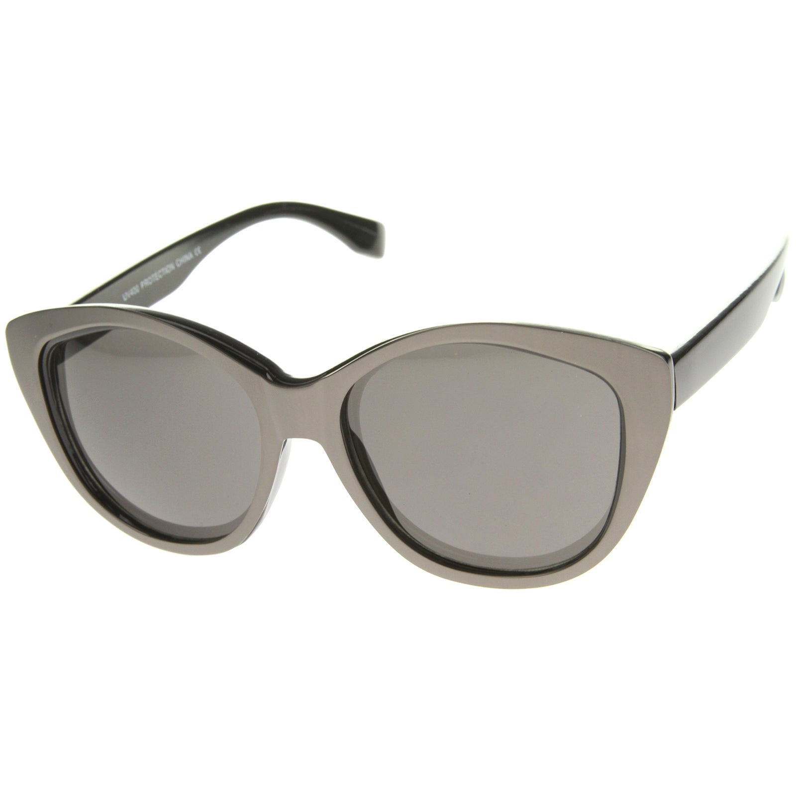 Women's High Fashion Two-Toned Tinted Lens Oversize Cat Eye Sunglasses 55mm - sunglass.la - 10