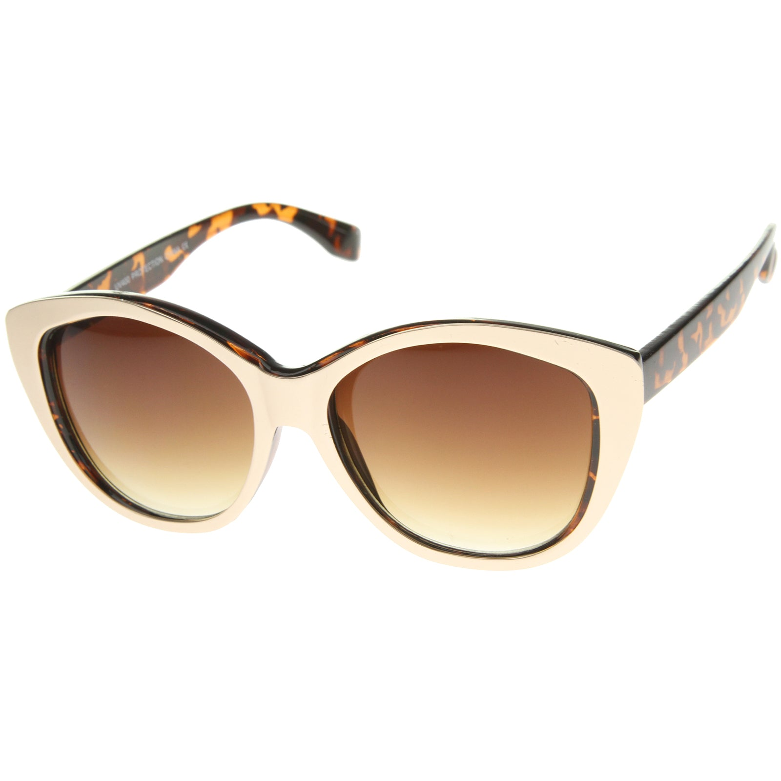 Women's High Fashion Two-Toned Tinted Lens Oversize Cat Eye Sunglasses 55mm - sunglass.la - 14