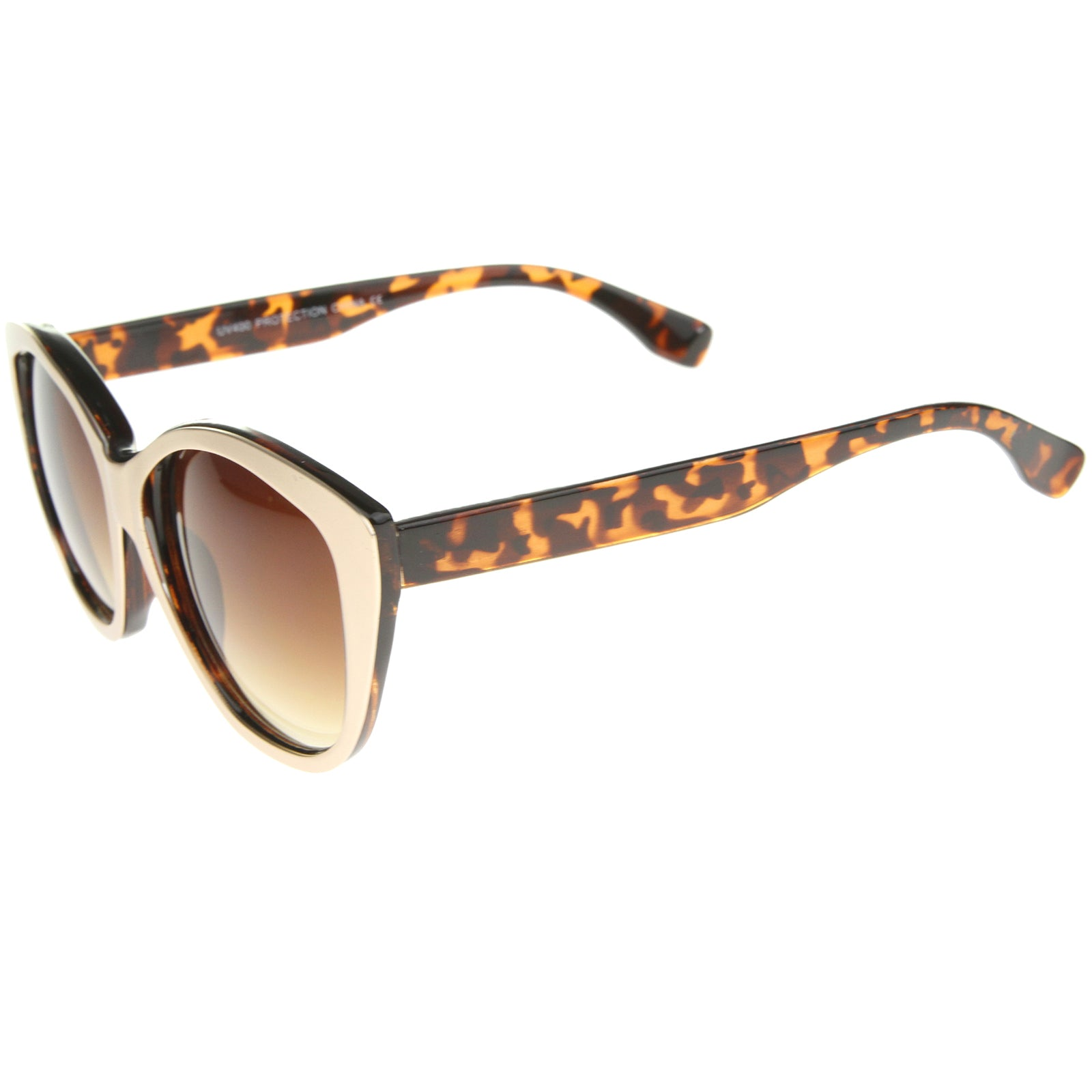Women's High Fashion Two-Toned Tinted Lens Oversize Cat Eye Sunglasses 55mm - sunglass.la - 15