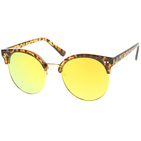 Womens Oversized Sunglasses With UV400 Protected Mirrored Lens - sunglass.la - 1