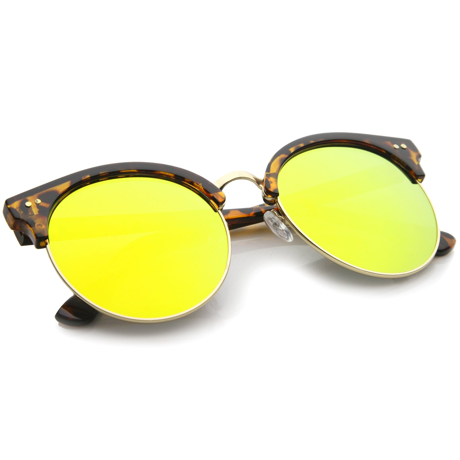 Womens Oversized Sunglasses With UV400 Protected Mirrored Lens - sunglass.la - 4