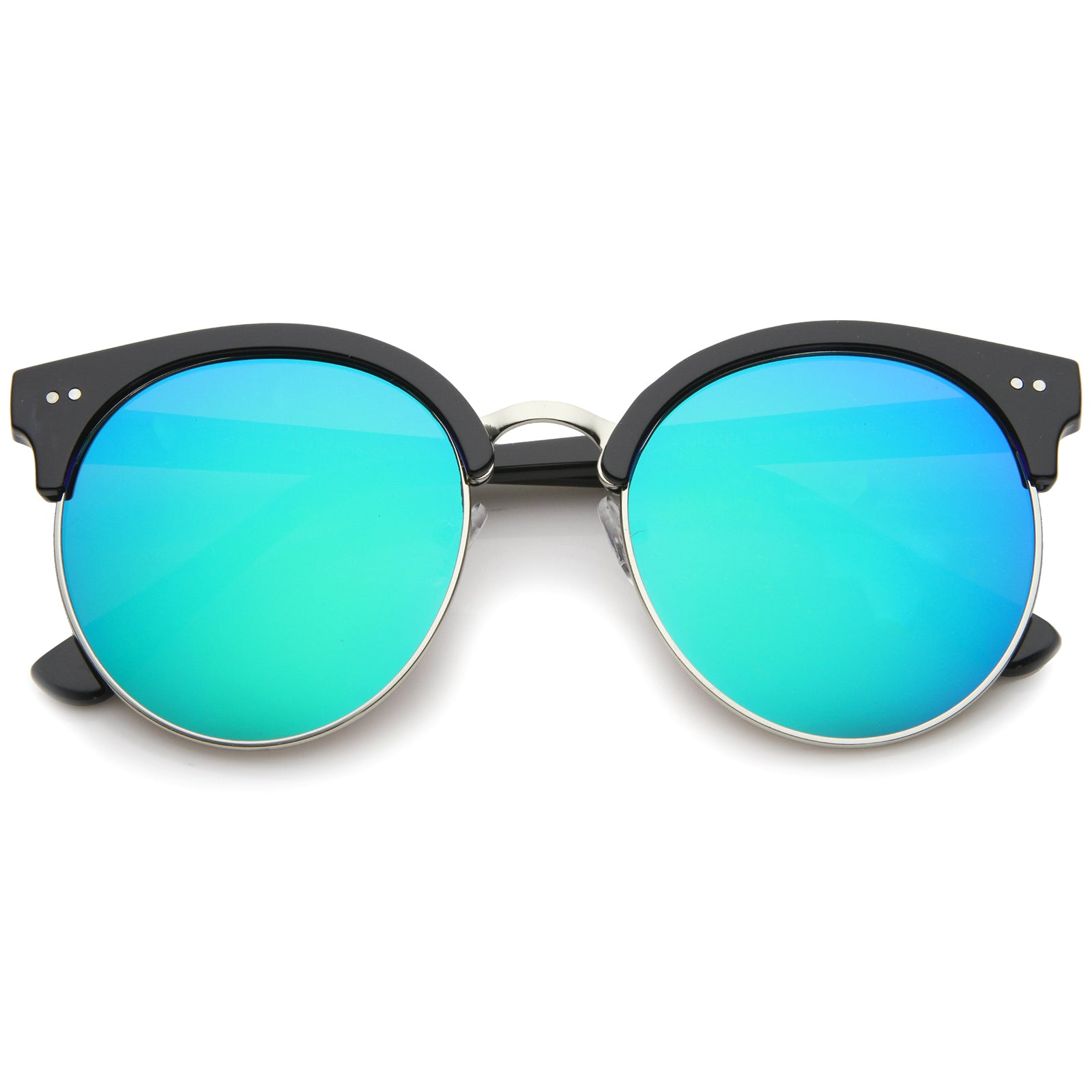 Womens Oversized Sunglasses With UV400 Protected Mirrored Lens - sunglass.la - 5