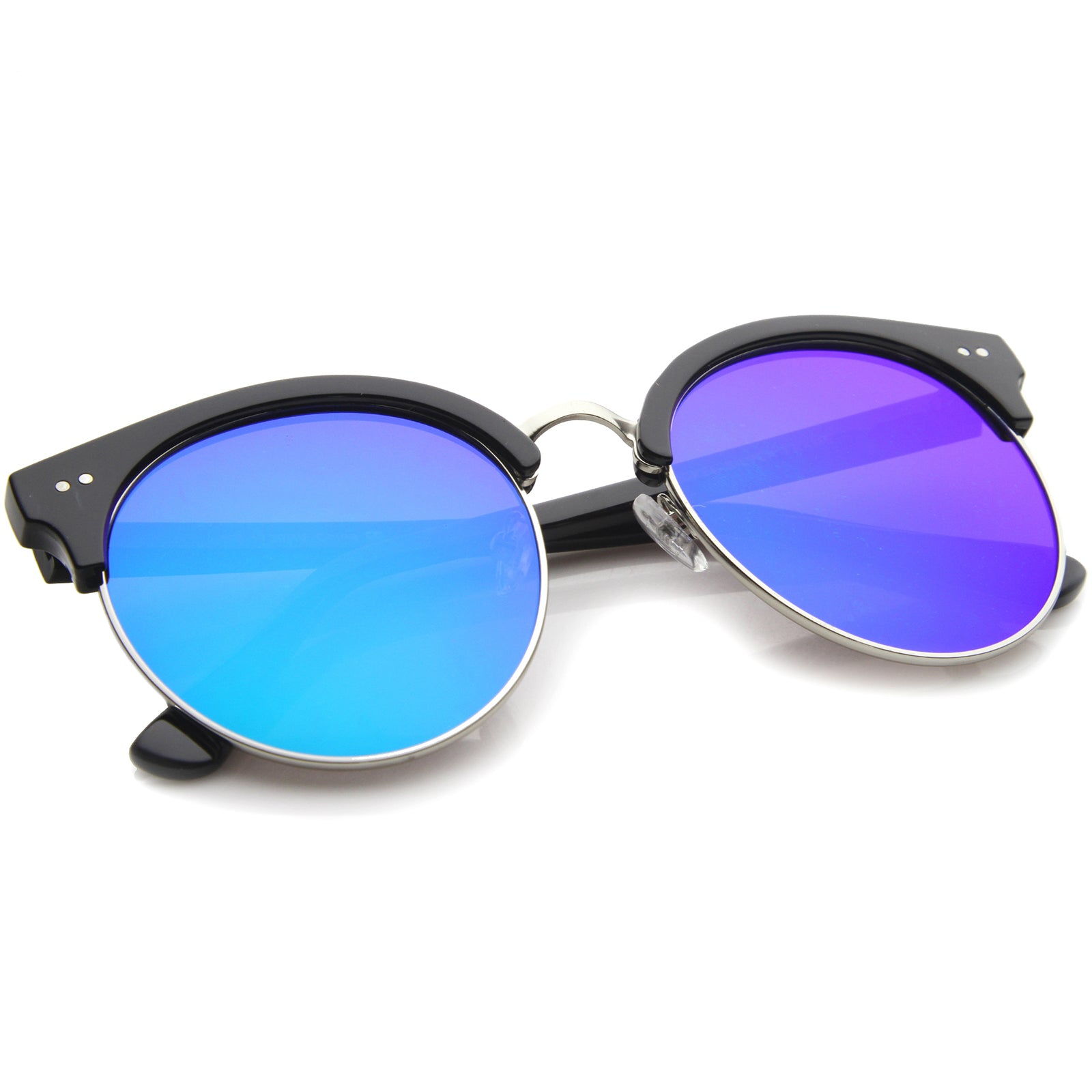 Womens Oversized Sunglasses With UV400 Protected Mirrored Lens - sunglass.la - 8