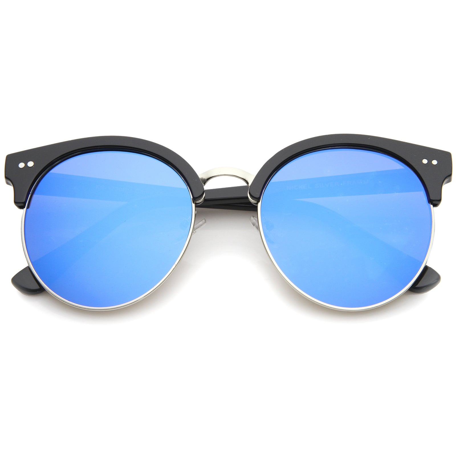 Womens Oversized Sunglasses With UV400 Protected Mirrored Lens - sunglass.la - 9
