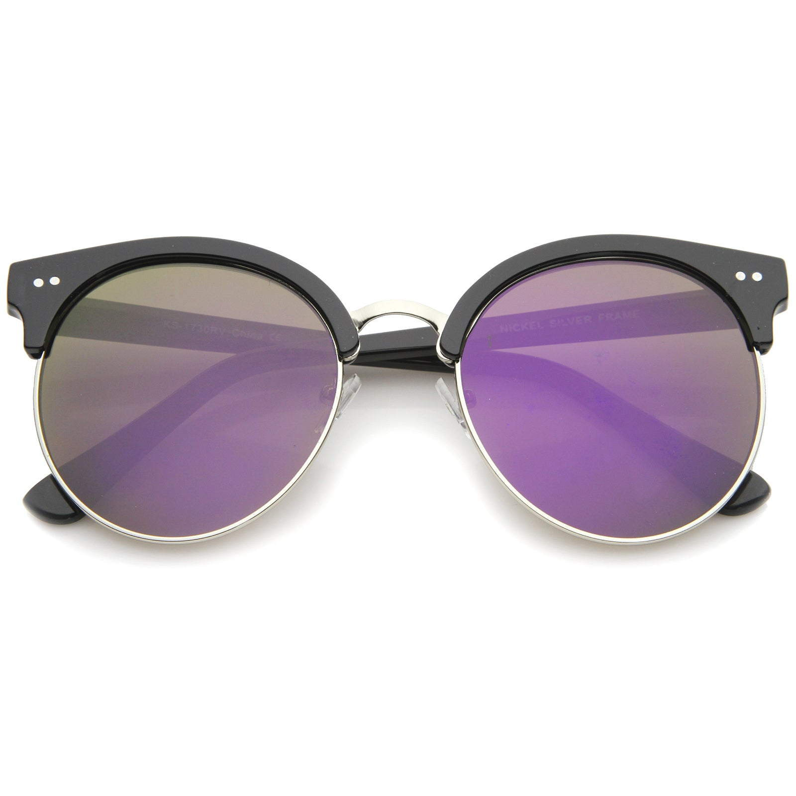Womens Oversized Sunglasses With UV400 Protected Mirrored Lens - sunglass.la - 17