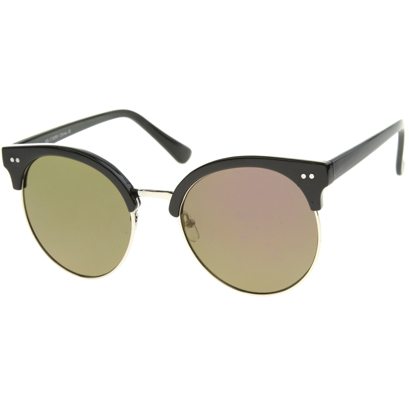 Womens Oversized Sunglasses With UV400 Protected Mirrored Lens - sunglass.la - 18
