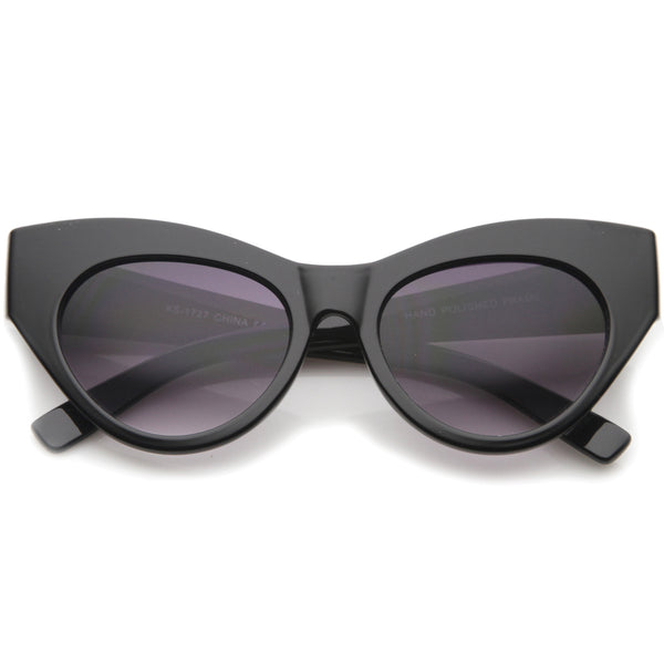 Womens High Fashion Chunky Frame Oversize Bold Cat Eye Sunglasses 57mm - sunglass.la - 1