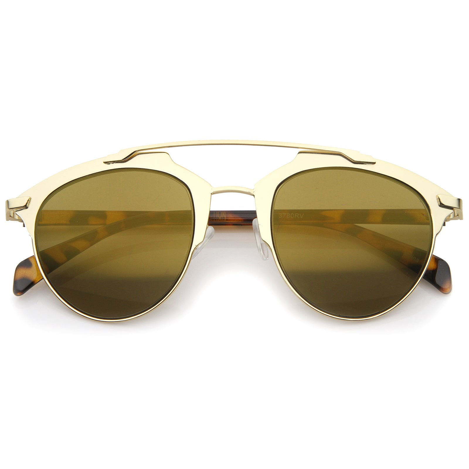 Modern Fashion Metal Double Bridge Mirror Lens Pantos Aviator Sunglasses 50mm - sunglass.la - 5