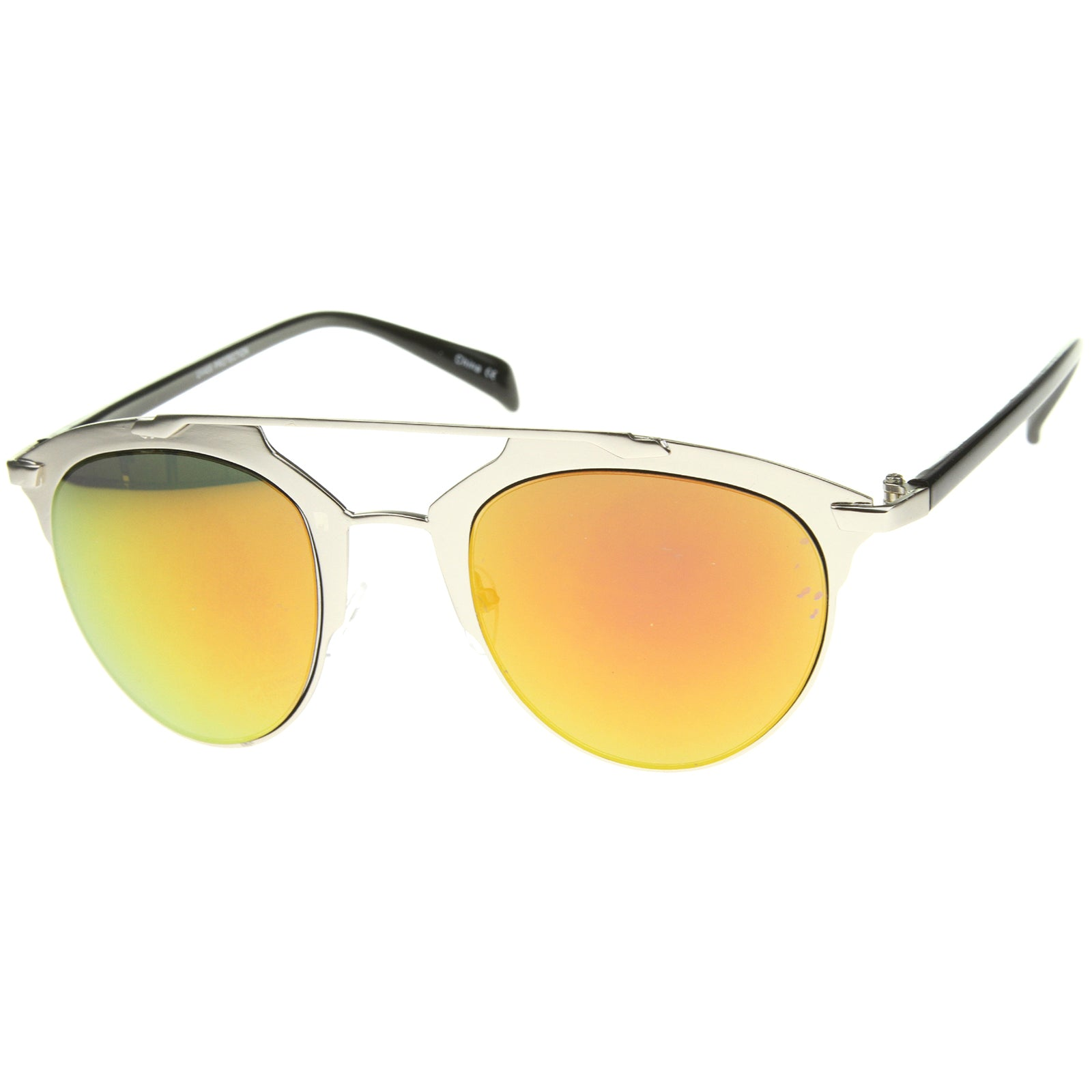 Modern Fashion Metal Double Bridge Mirror Lens Pantos Aviator Sunglasses 50mm - sunglass.la - 10