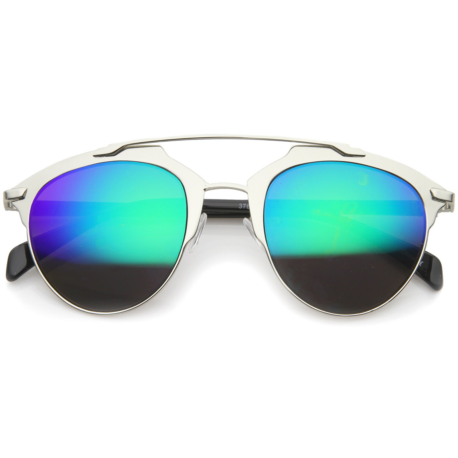Modern Fashion Metal Double Bridge Mirror Lens Pantos Aviator Sunglasses 50mm - sunglass.la - 13