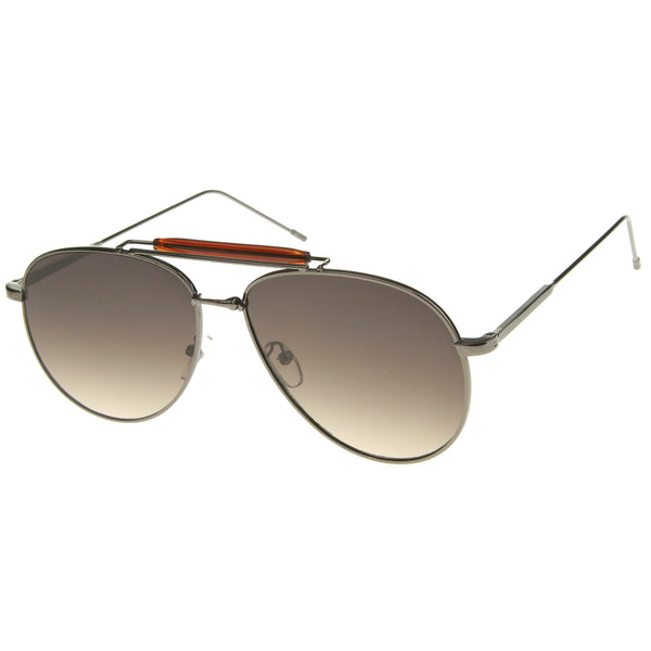 Womens Aviator Sunglasses With UV400 Protected Gradient Lens - sunglass.la - 1