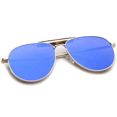 Gold-Tortoise / Blue Mirror