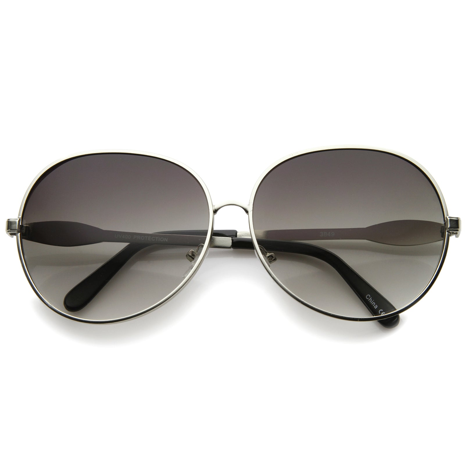 Womens Glam Full Metal Frame Oversized Round Sunglasses 63mm - sunglass.la - 5