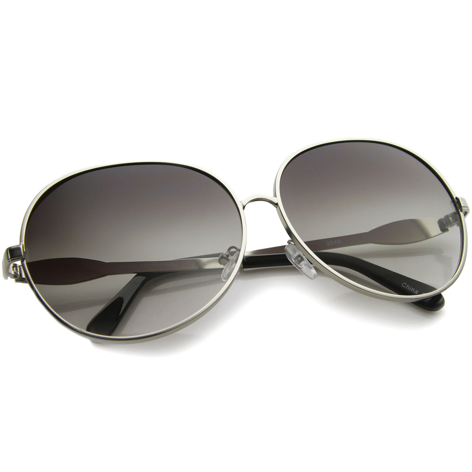 Womens Glam Full Metal Frame Oversized Round Sunglasses 63mm - sunglass.la - 8