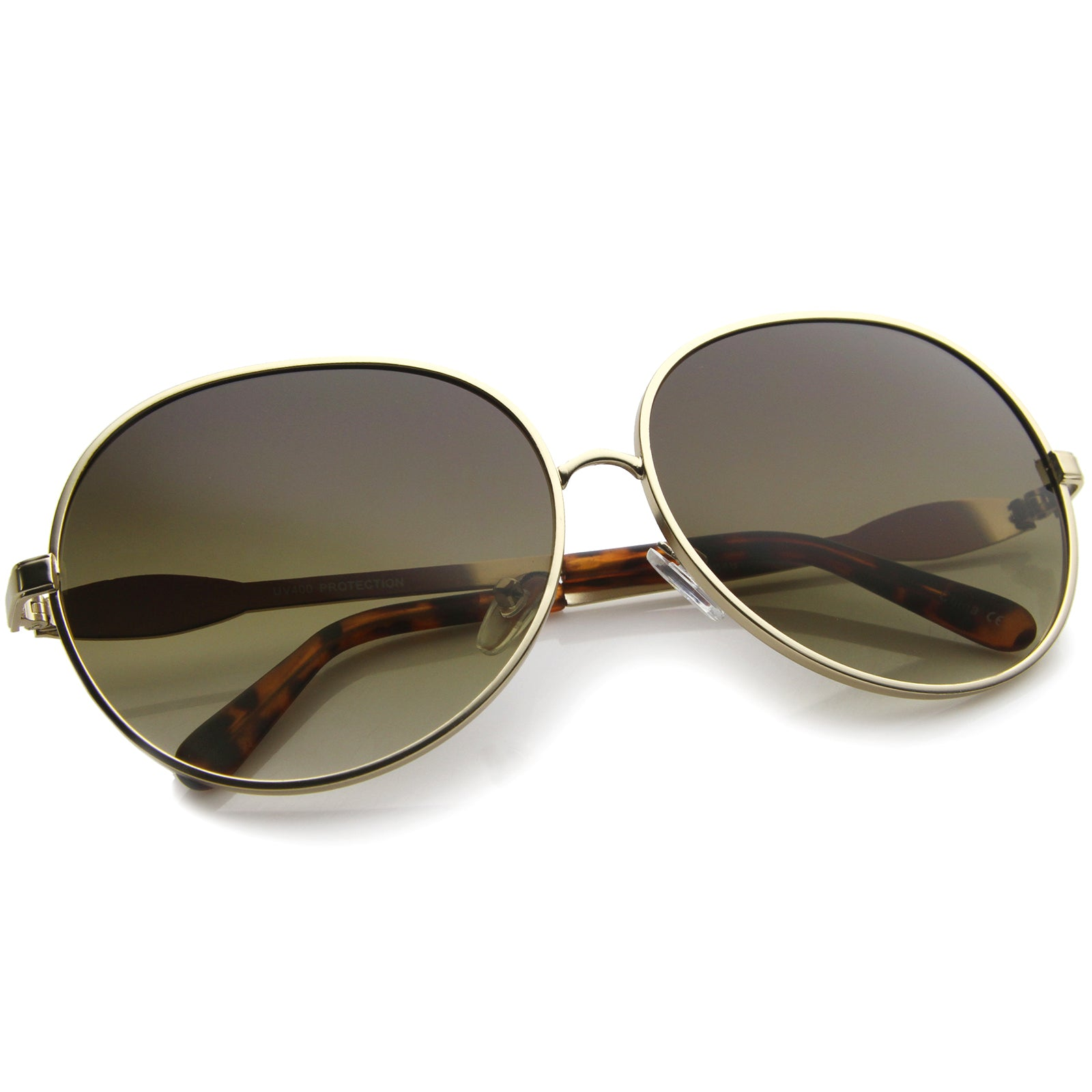 Womens Glam Full Metal Frame Oversized Round Sunglasses 63mm - sunglass.la - 16