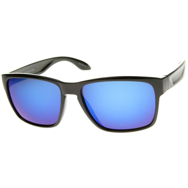 Action Sport Modern Frame Mirrored Lens Rectangle Sunglasses 59mm - sunglass.la
