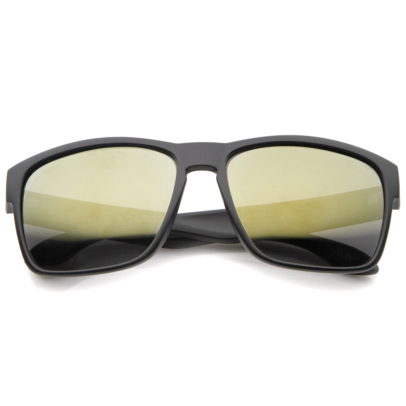 1b4479d136c2 Action Sport Modern Frame Mirrored Lens Rectangle Sunglasses 59mm ...