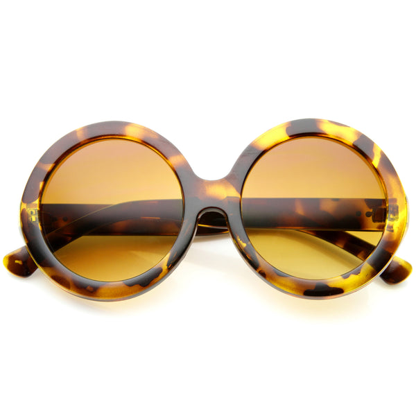 Womens Mod Fashion Oversized Jackie O Super Round Sunglasses - sunglass.la - 1