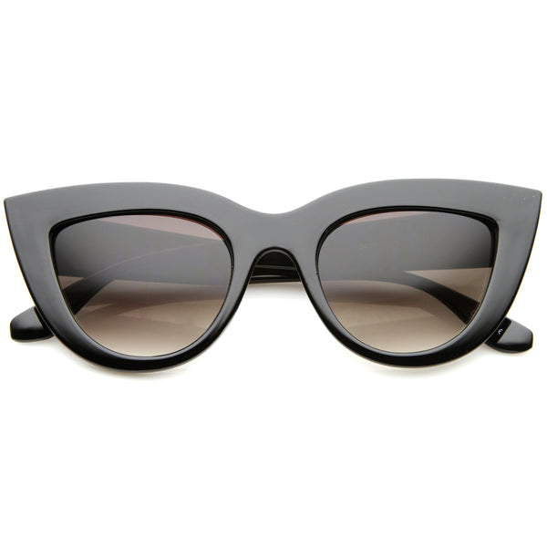 Womens Mod Fashion Bold Rimmed 70s Style Cat Eye Sunglasses 48mm - sunglass.la - 1