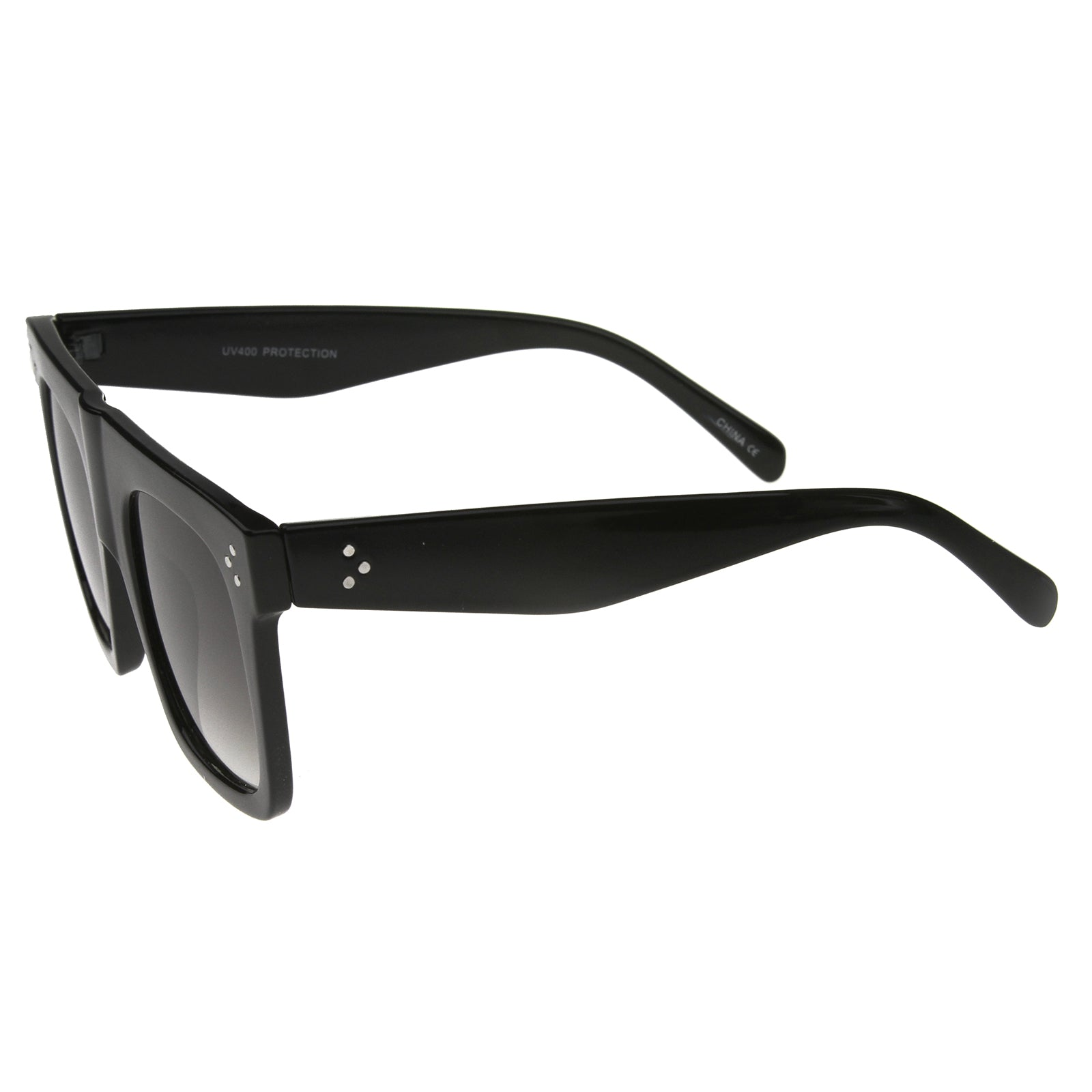 Modern Fashion Bold Flat Top Square Horn Rimmed Sunglasses 50mm - sunglass.la - 11