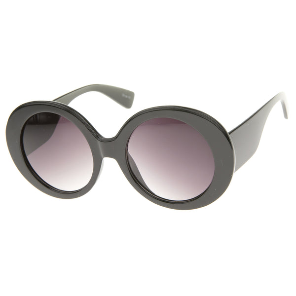 High Fashion Glam Chunky Round Oversize Sunglasses 50mm - sunglass.la