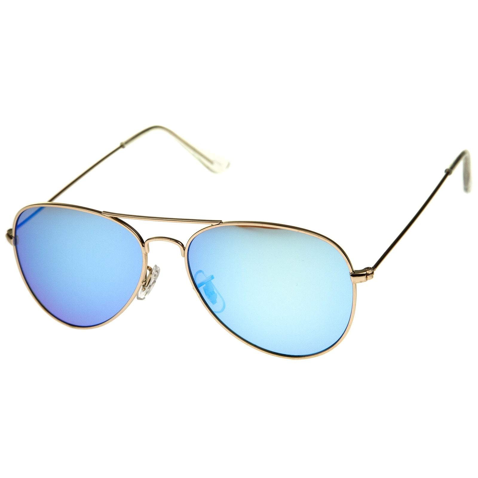 Premium Nickel Plated Frame Multi-Coated Mirror Lens Aviator Sunglasses 59mm - sunglass.la - 2