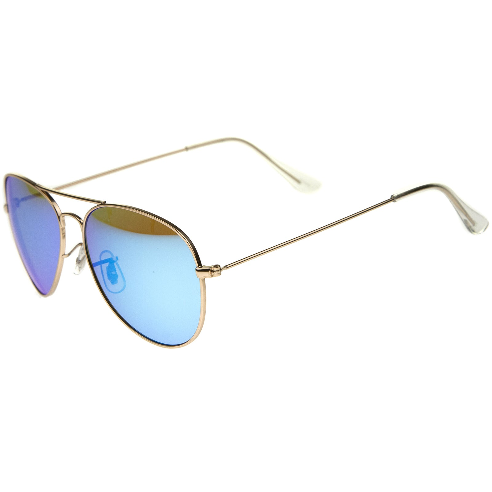 Premium Nickel Plated Frame Multi-Coated Mirror Lens Aviator Sunglasses 59mm - sunglass.la - 3
