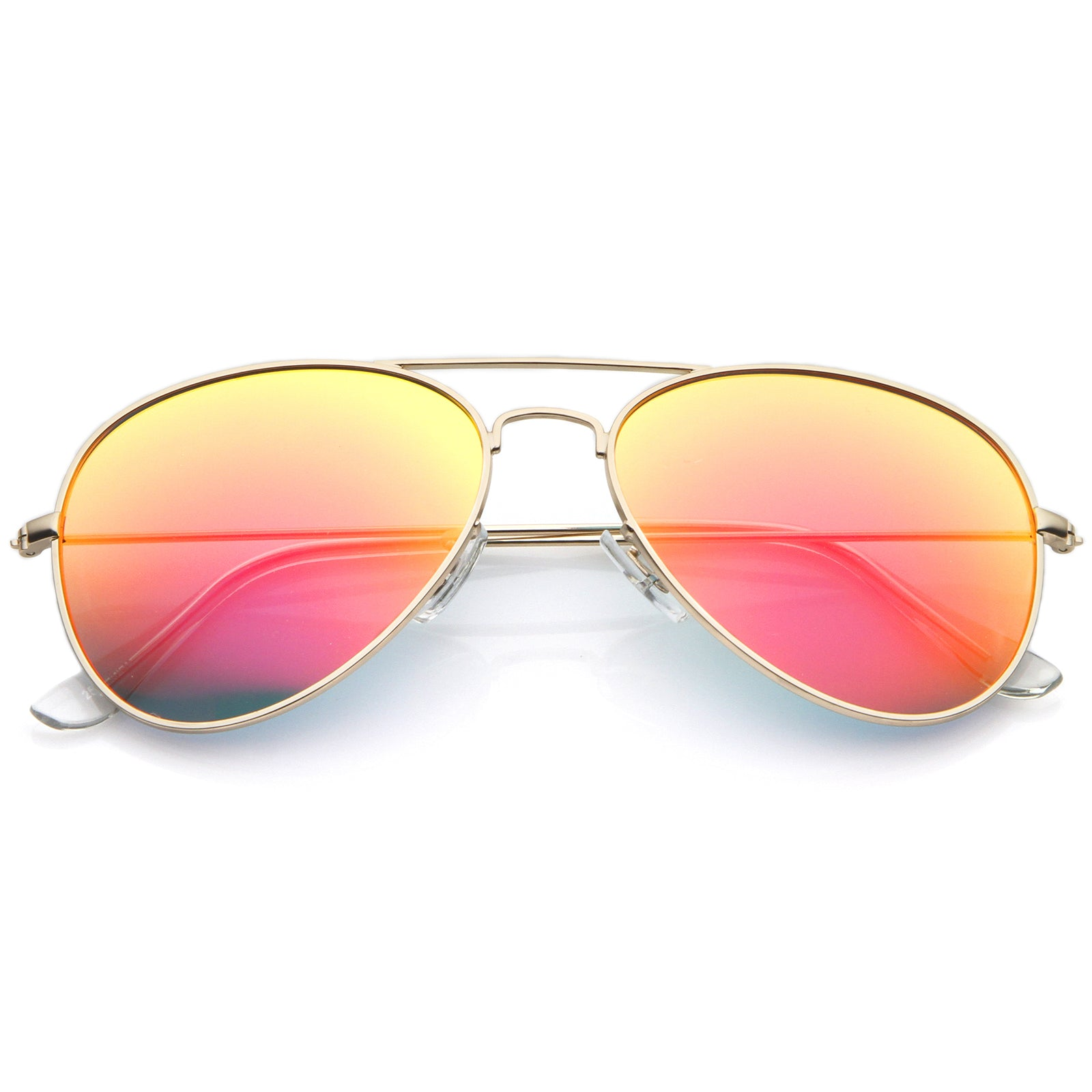 Premium Nickel Plated Frame Multi-Coated Mirror Lens Aviator Sunglasses 59mm - sunglass.la - 5