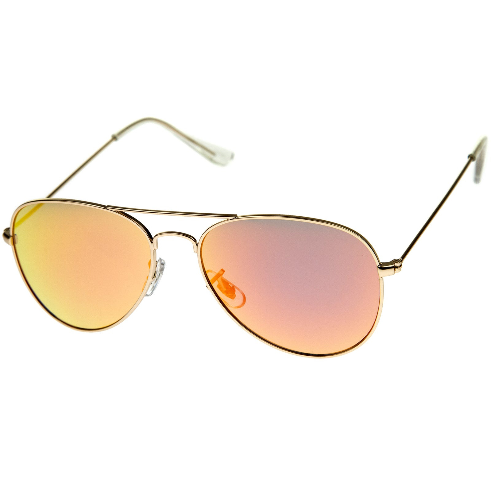 Premium Nickel Plated Frame Multi-Coated Mirror Lens Aviator Sunglasses 59mm - sunglass.la - 6