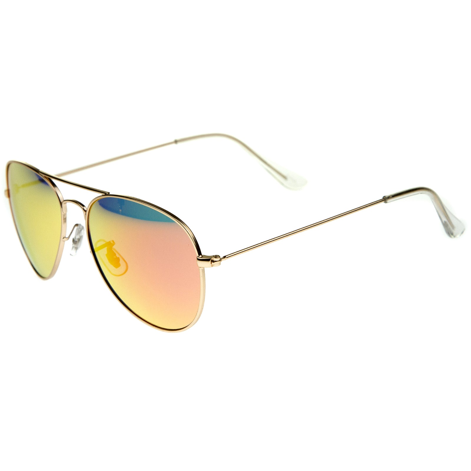 Premium Nickel Plated Frame Multi-Coated Mirror Lens Aviator Sunglasses 59mm - sunglass.la - 7