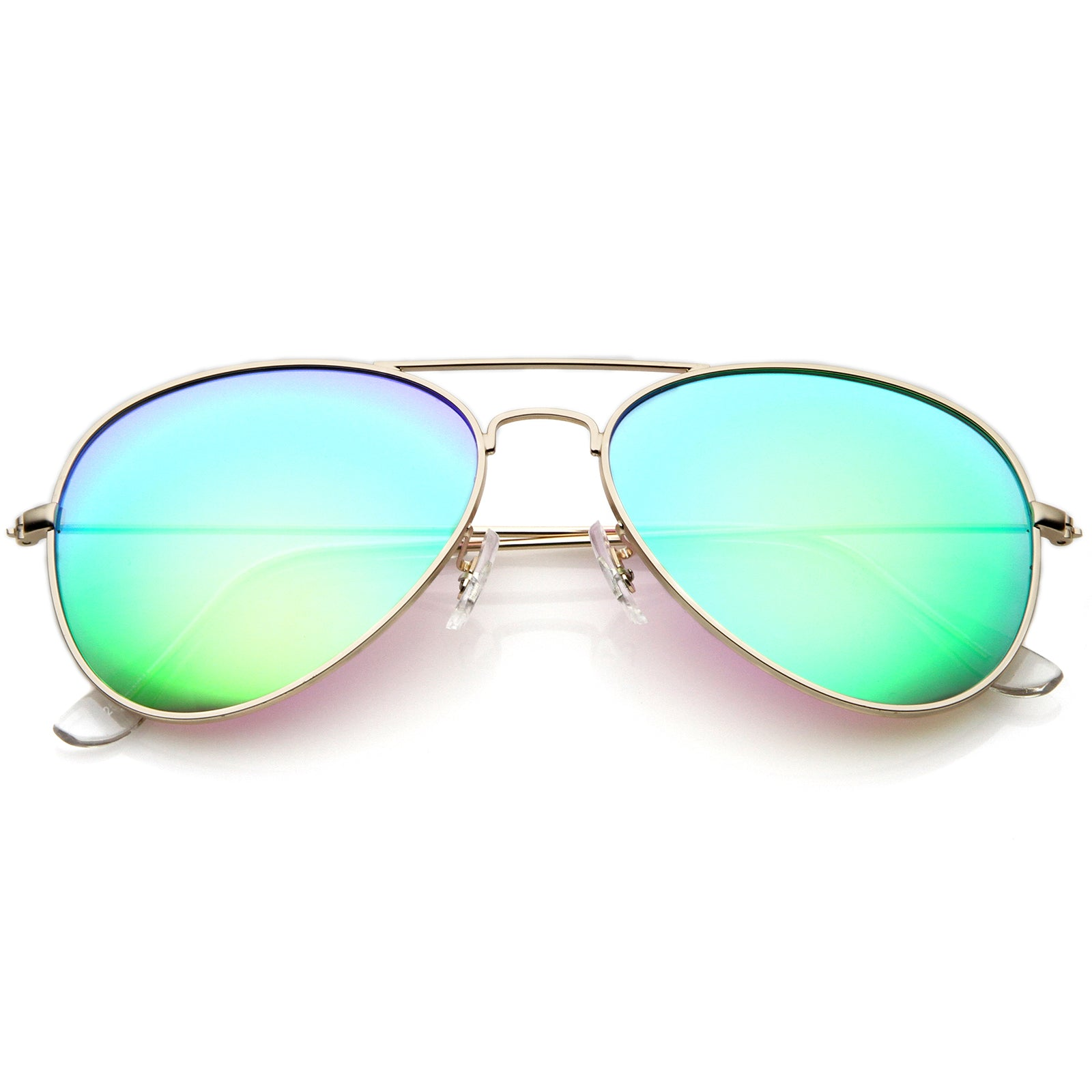 Premium Nickel Plated Frame Multi-Coated Mirror Lens Aviator Sunglasses 59mm - sunglass.la - 9