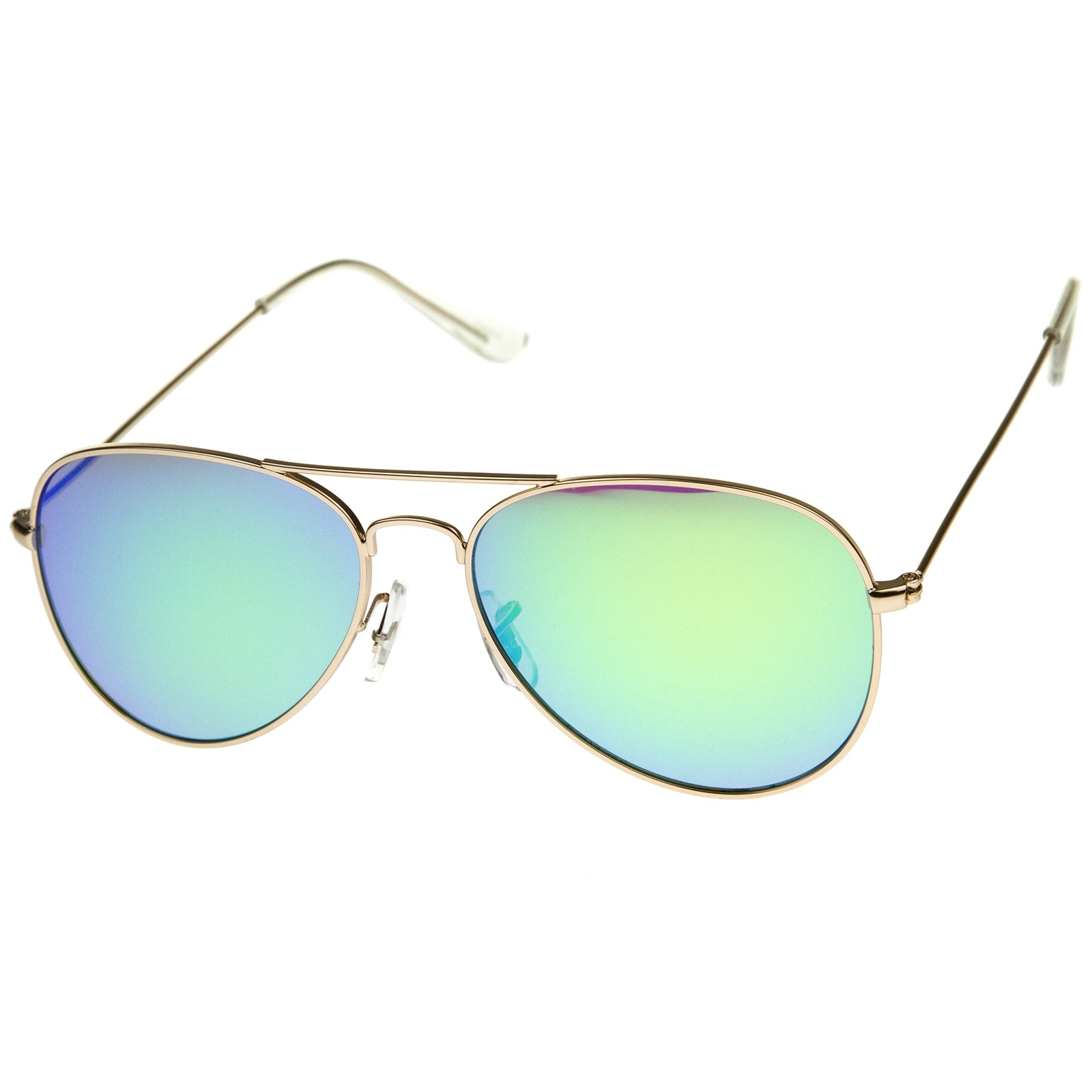Premium Nickel Plated Frame Multi-Coated Mirror Lens Aviator Sunglasses 59mm - sunglass.la - 10