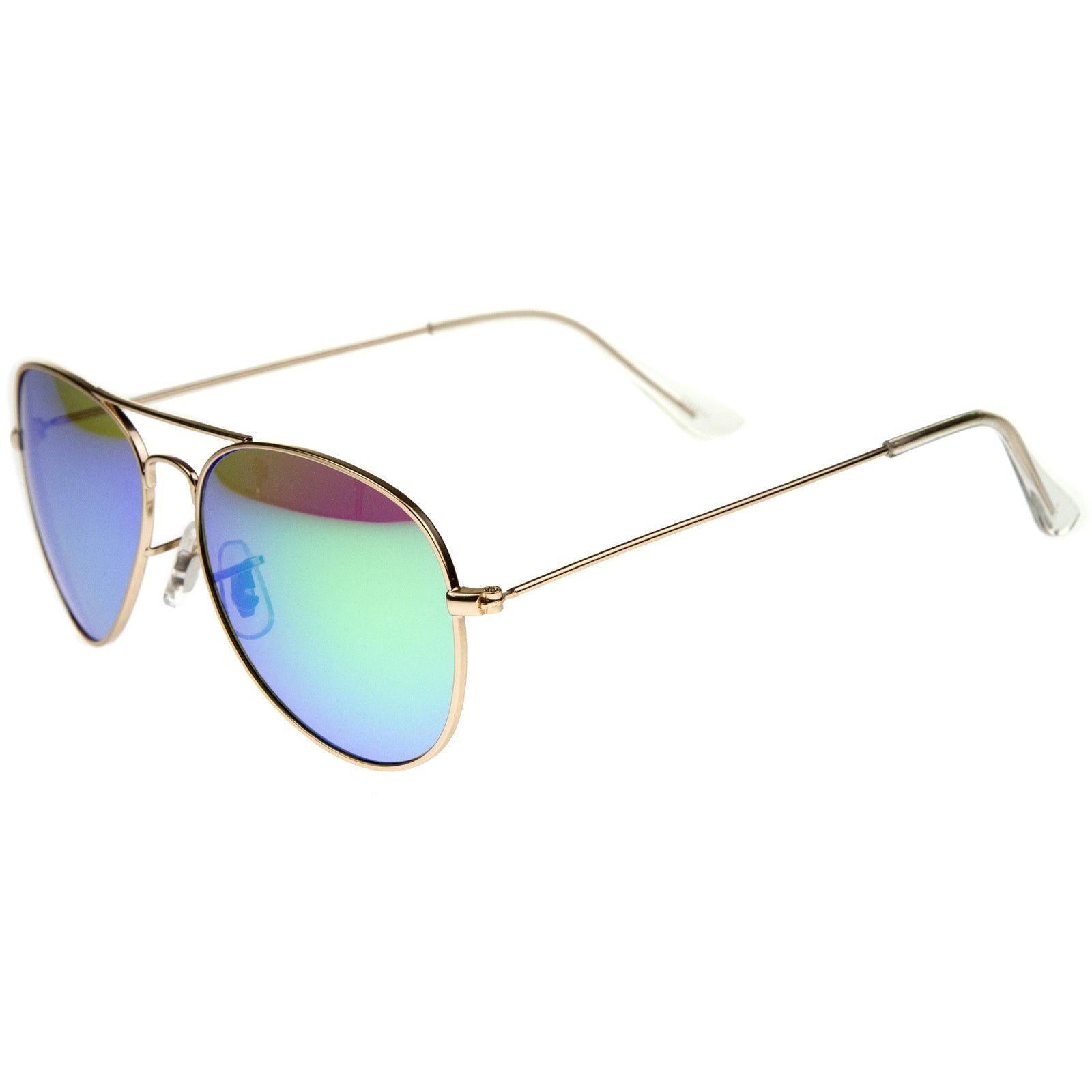 Premium Nickel Plated Frame Multi-Coated Mirror Lens Aviator Sunglasses 59mm - sunglass.la - 11