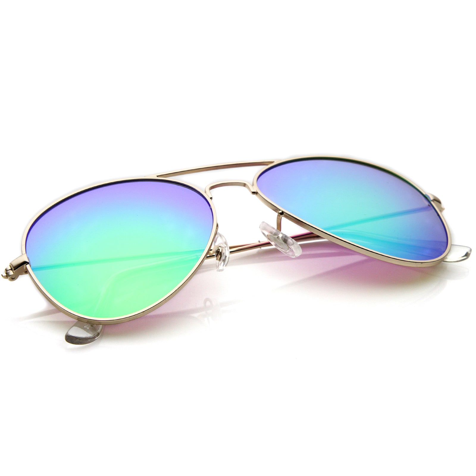 Premium Nickel Plated Frame Multi-Coated Mirror Lens Aviator Sunglasses 59mm - sunglass.la - 12