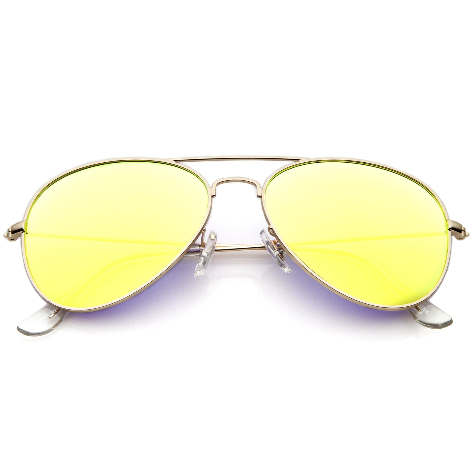 Premium Nickel Plated Frame Multi-Coated Mirror Lens Aviator Sunglasses 59mm - sunglass.la - 13