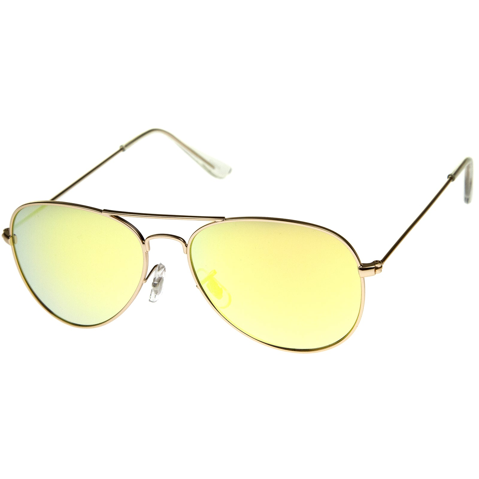 Premium Nickel Plated Frame Multi-Coated Mirror Lens Aviator Sunglasses 59mm - sunglass.la - 14