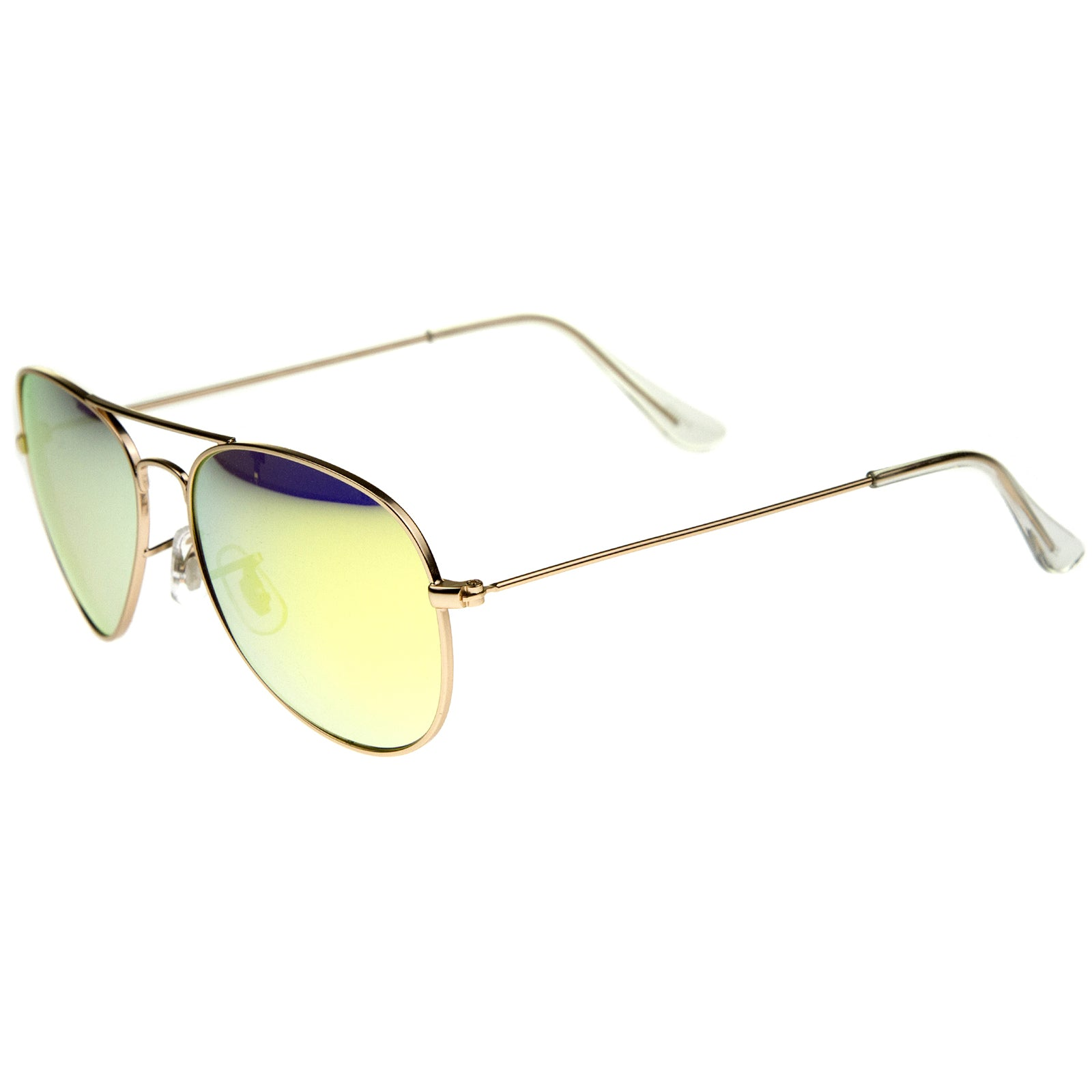 Premium Nickel Plated Frame Multi-Coated Mirror Lens Aviator Sunglasses 59mm - sunglass.la - 15