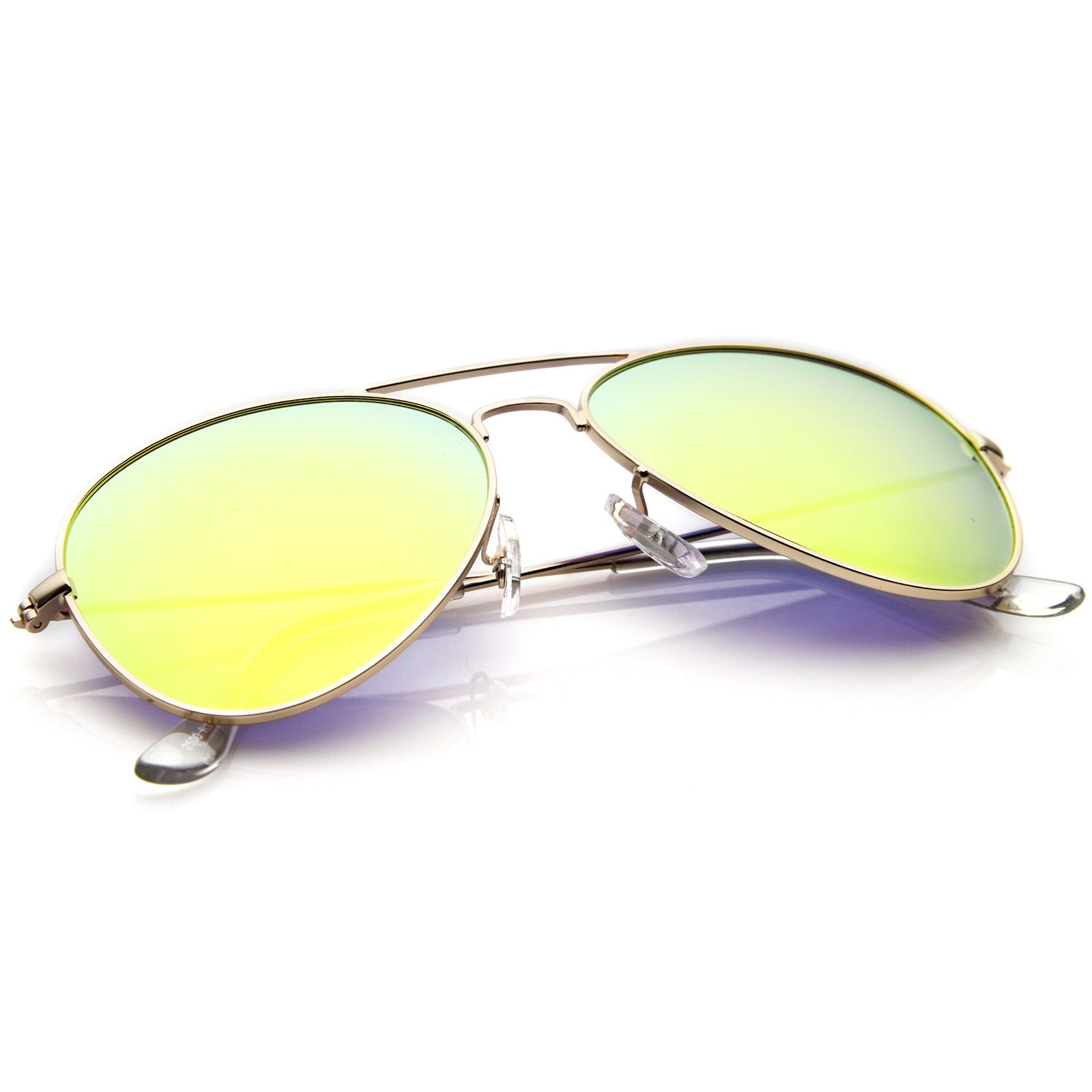 Premium Nickel Plated Frame Multi-Coated Mirror Lens Aviator Sunglasses 59mm - sunglass.la - 16