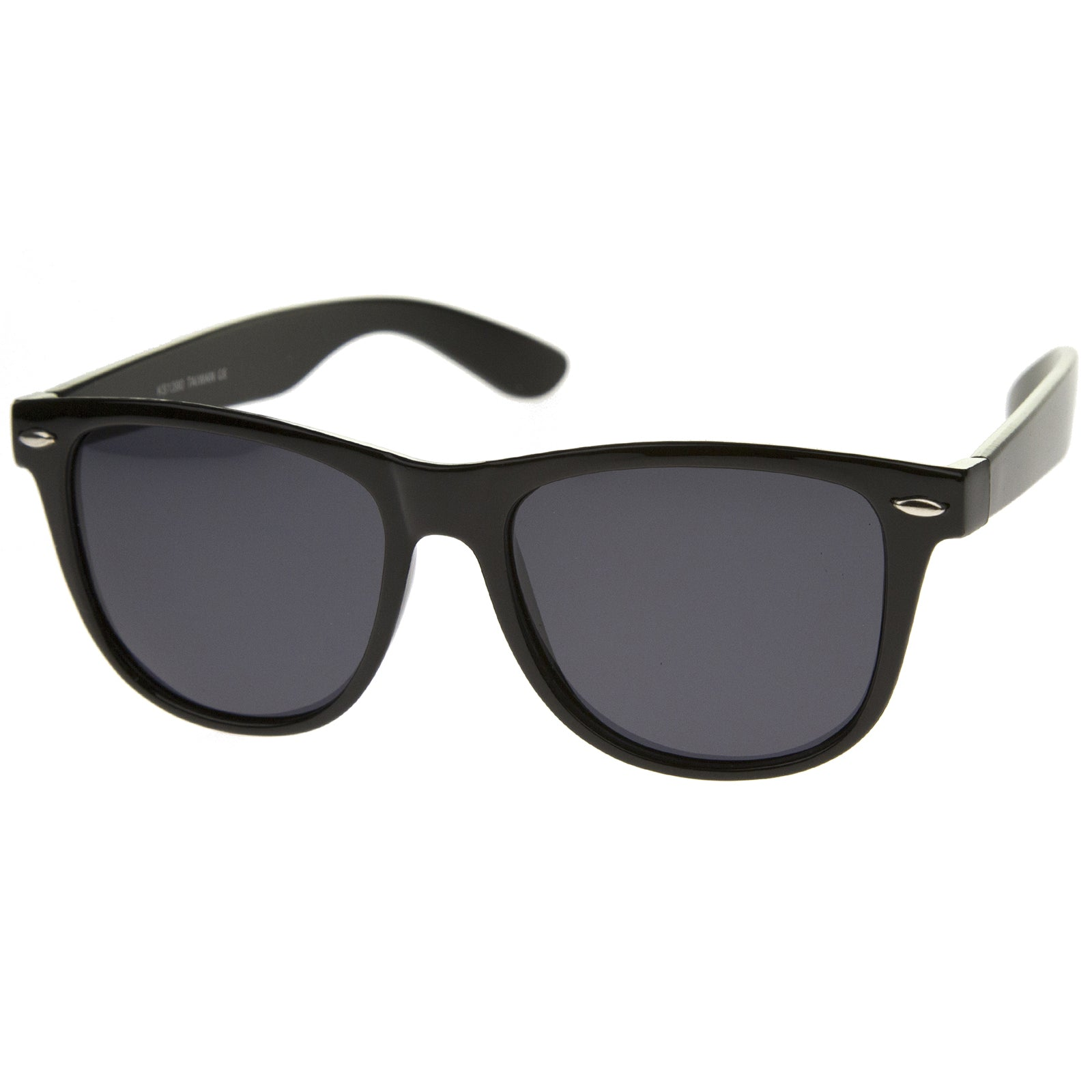 Large Oversize Classic Dark Tinted Lens Horn Rimmed Sunglasses 55mm - sunglass.la - 2