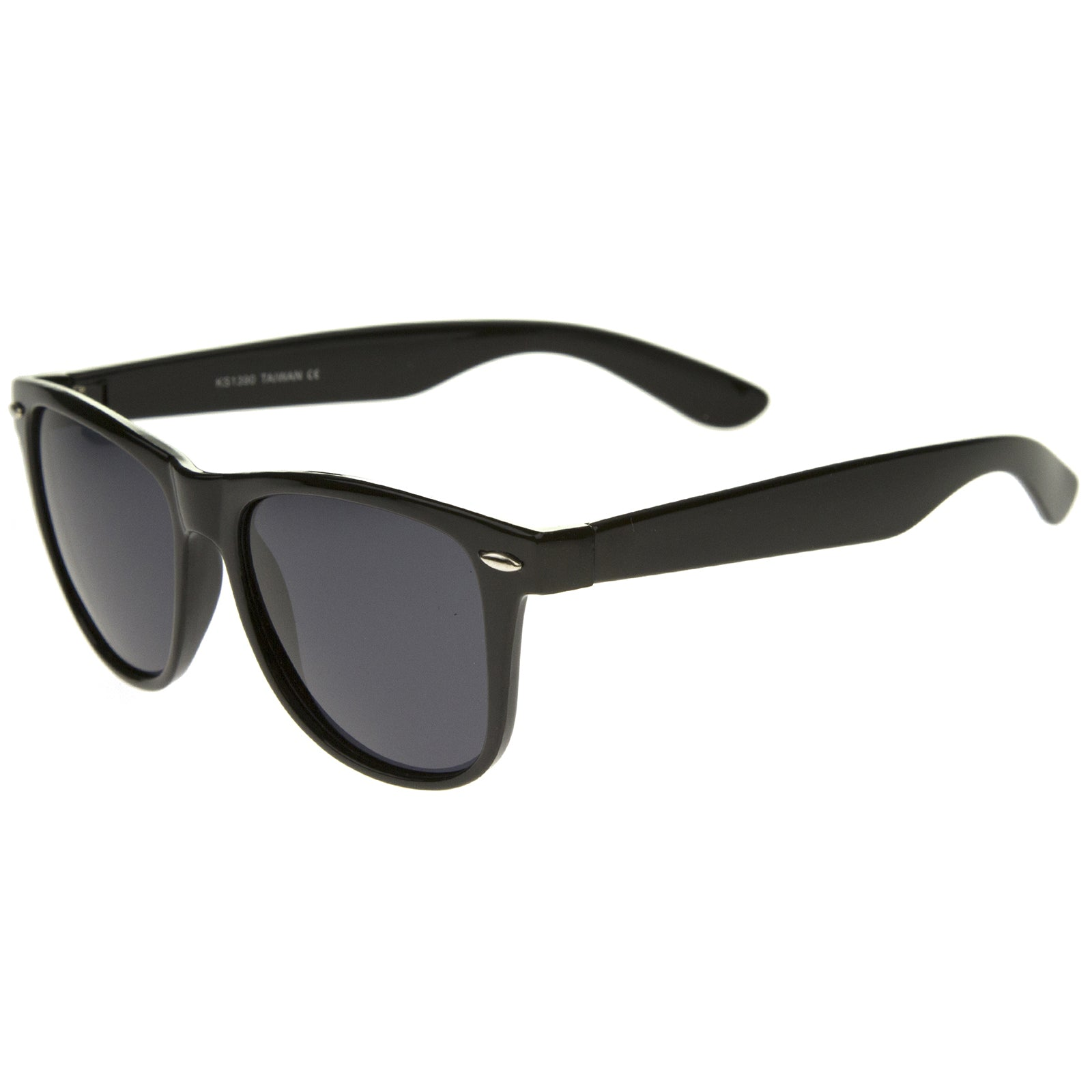 Large Oversize Classic Dark Tinted Lens Horn Rimmed Sunglasses 55mm - sunglass.la - 3
