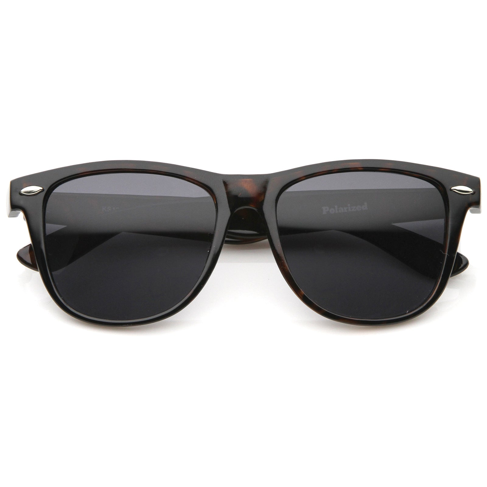 Large Oversize Classic Dark Tinted Lens Horn Rimmed Sunglasses 55mm - sunglass.la - 5