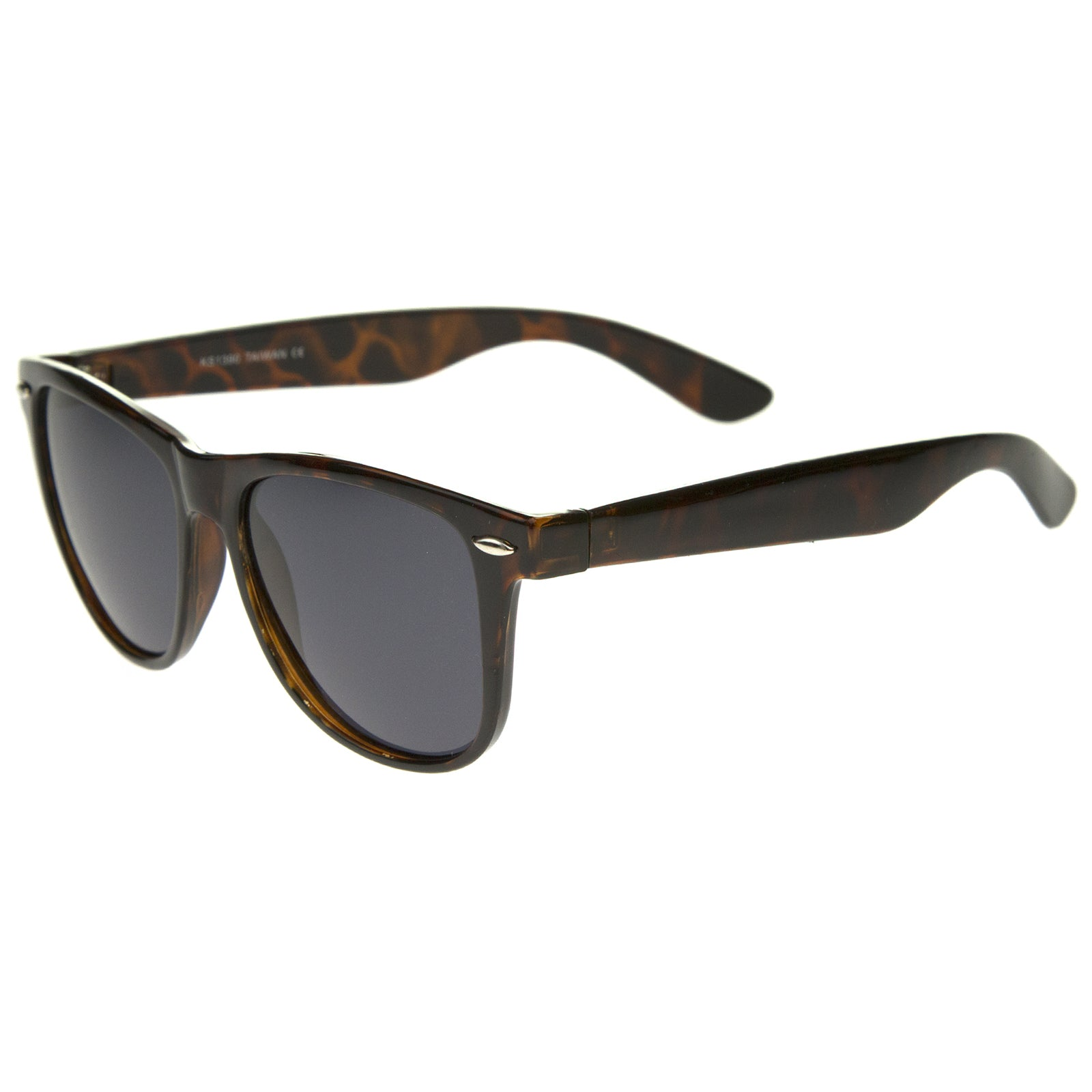 Large Oversize Classic Dark Tinted Lens Horn Rimmed Sunglasses 55mm - sunglass.la - 7