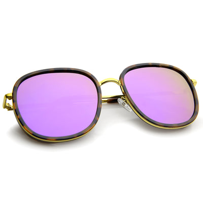 Tortoise-Gold / Purple Mirror