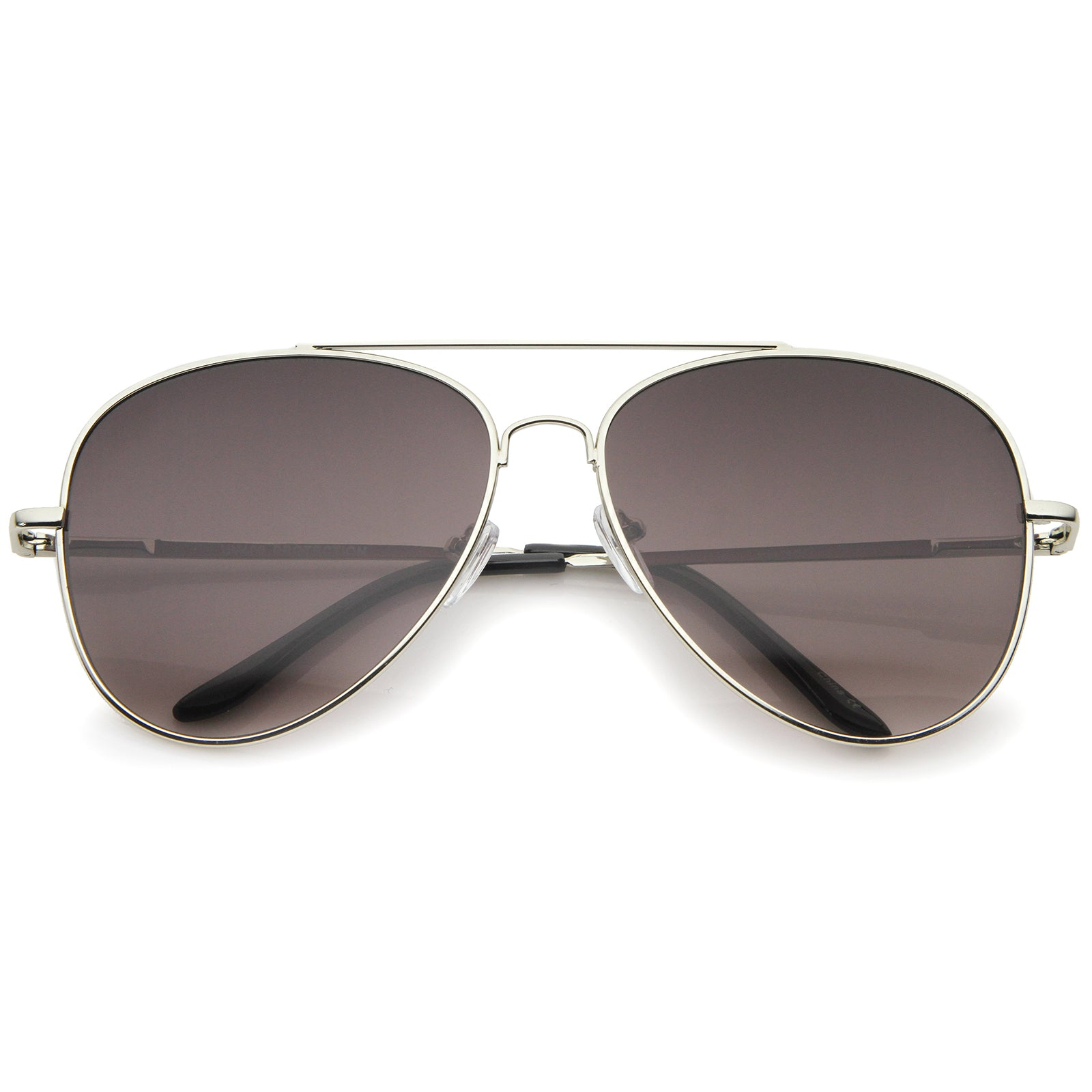 Large Classic Full Metal Teardrop Flat Lens Aviator Sunglasses 60mm - sunglass.la - 5
