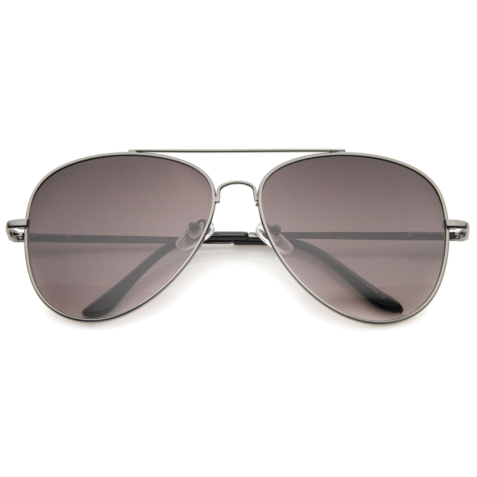 Large Classic Full Metal Teardrop Flat Lens Aviator Sunglasses 60mm - sunglass.la - 7