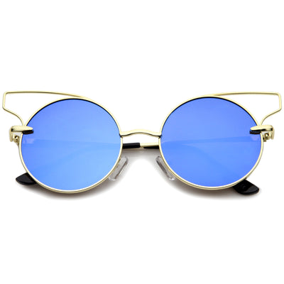 Gold / Blue Mirror