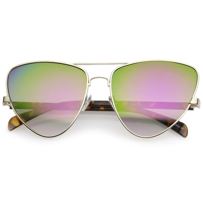 Gold Tortoise / Purple Green Mirror